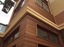 Siding installation requires safe construction practices