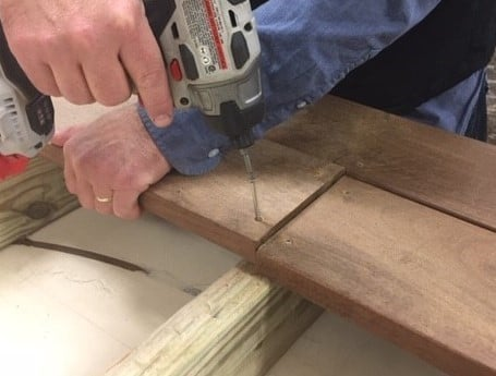 Square Butt Joint decking installation technique