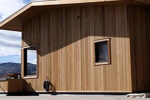 Thermally Modified-Hem-Fir siding Vail CO Installation