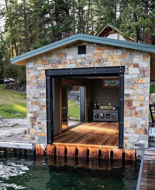 Thermally modified Hemlock for decking, dock and boathouse