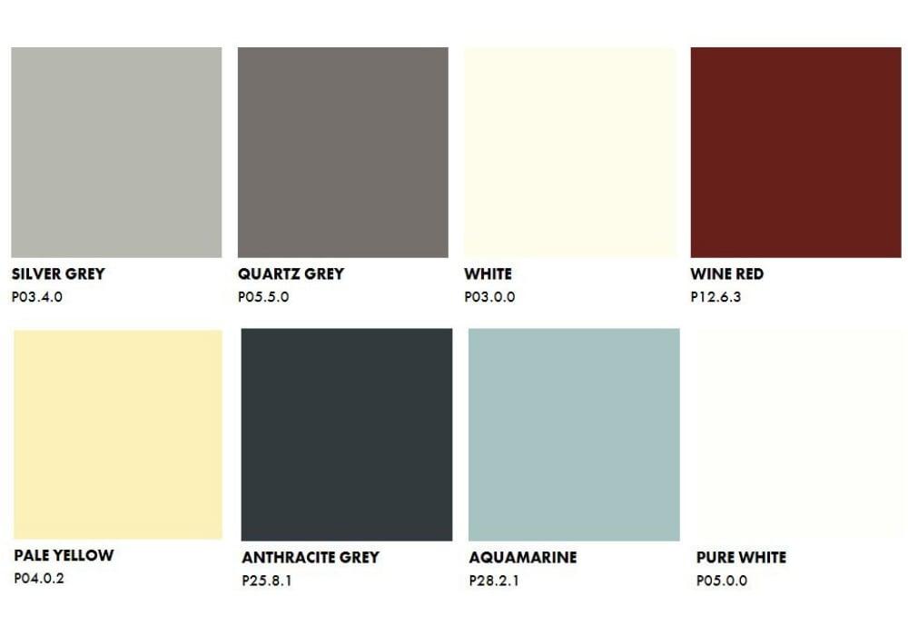 Trespa Pura NFC Siding Unicolours Trespa colors