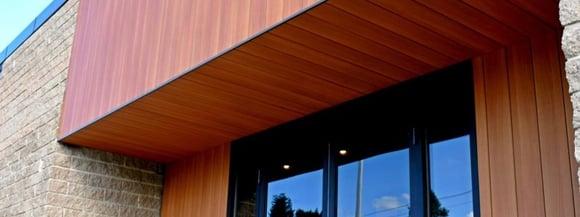 Trespa Pura soffits and vertical siding