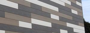 Trespa Pura using 3 colors in random pattern design