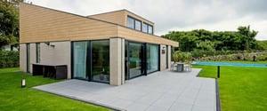 Trespa Pura wood decor on residential design