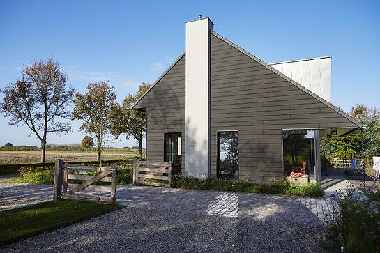 Grey house exterior using Trespa Pura siding in the USA