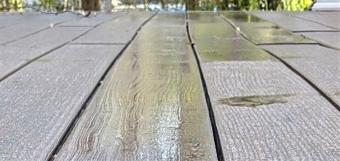 Trex Condensation warped planks close up detail planks