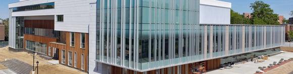 UConn Rec Center exterior rainscreen under construction