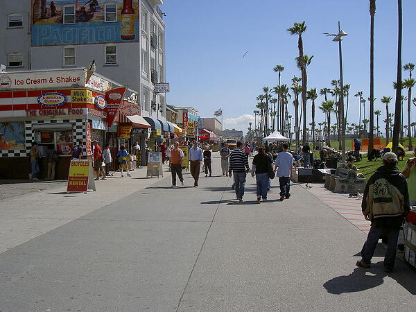 Venice Beach boardwalk concrete www.venicebeach.com