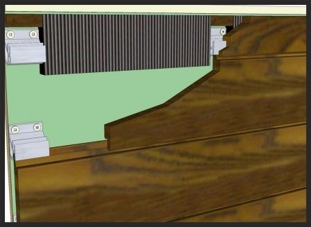 Climate-Shield rain screen system- under soffit detail for horizontal wood siding installation