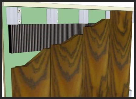 Climate-Shield Rain Screen vertical cladding installation under soffit detail