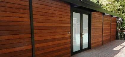 Ipe hardwood siding is a great cladding option