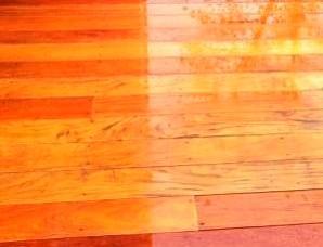 Garapa hardwood decking is
