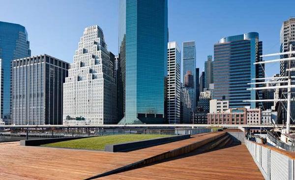 pier 15  boardwalk and esplanade uses cumaru boardwalk decking material