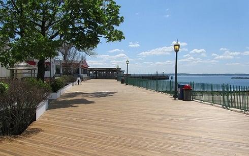 ipe hardwood decking at Playland Park boardwalk, Rye, NY