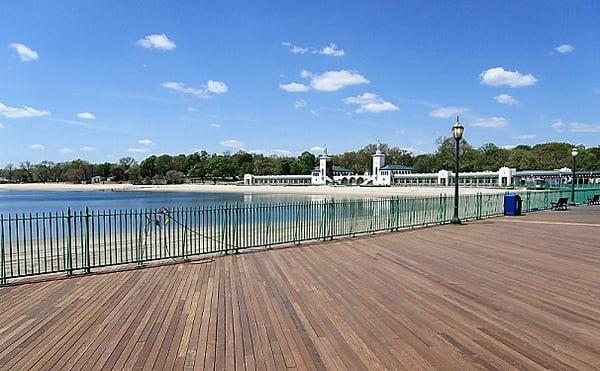 playland park in rye ny ipe hardwood decking boardwalk material
