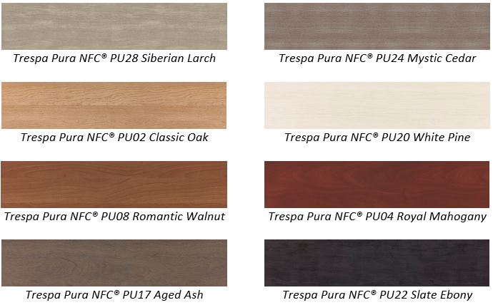 Trespa Pura NFC sidings wood decor colors
