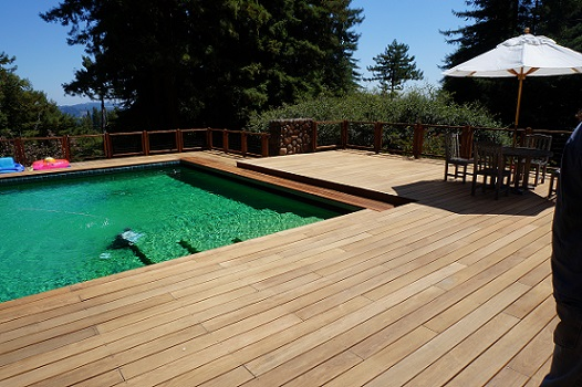 Ipe poolside deck
