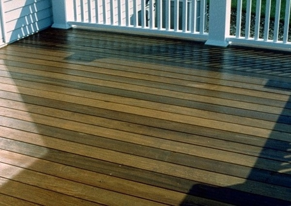 Ipe deck and traditional railing
