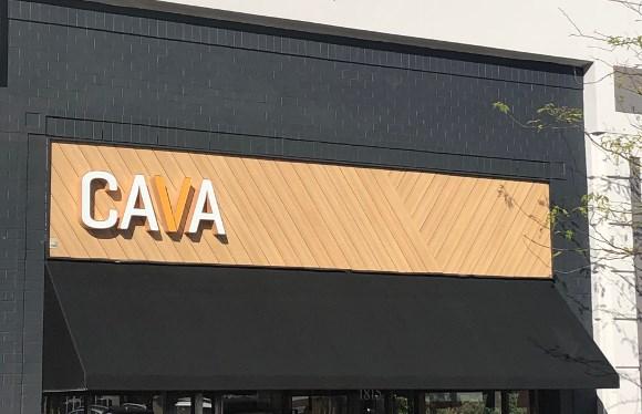 Cava Grill uses Trespa Pura siding as accent on exterior facade