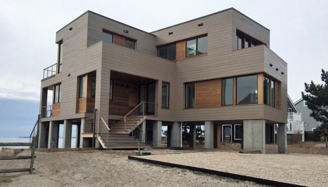 Cedar siding with Climate-Shield rain screen system