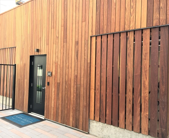 Climate-Shield Rain Screen System with FSC Machiche hardwood cladding