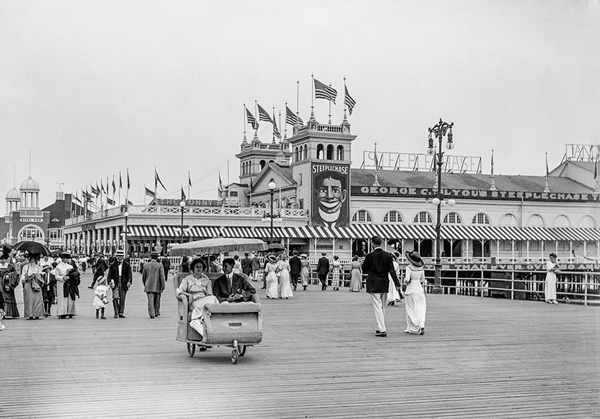 Coney Island Boardwalk back in the day