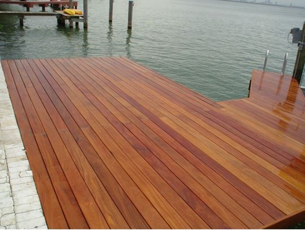 Cumaru decking on dock