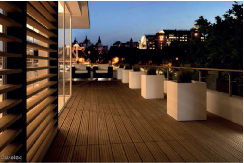 Eurotec deck system with hardwood decking