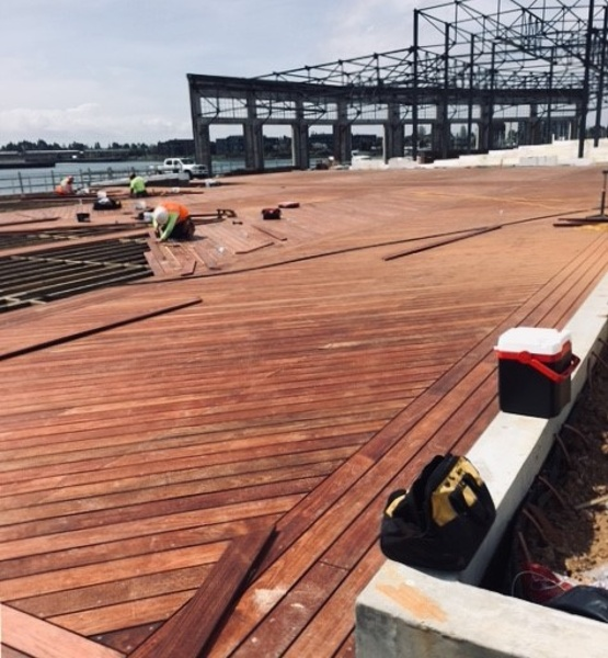 FSC Machiche boardwalk under construction in Oakland, CA