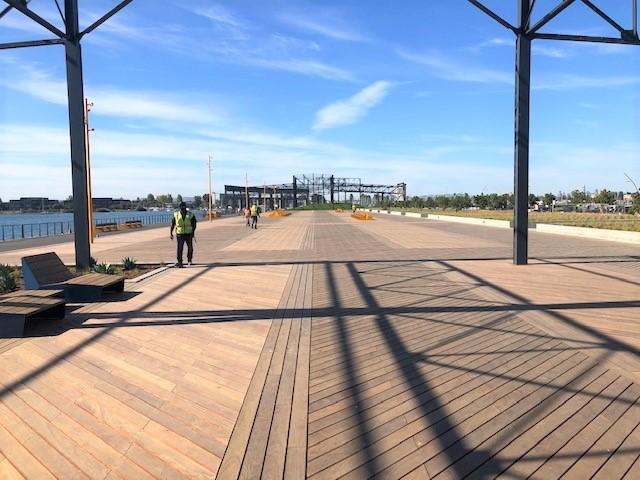 FSC Machiche hardwood boardwalk and benches