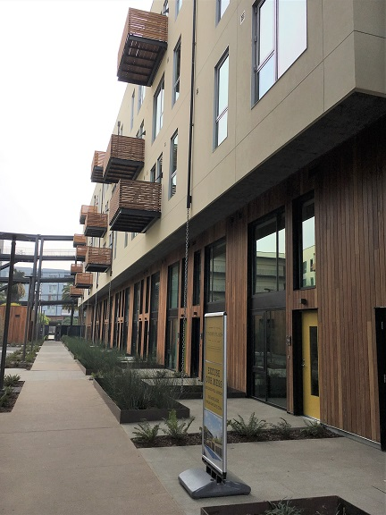 FSC Machiche rainscreen and balcony decks on apartments