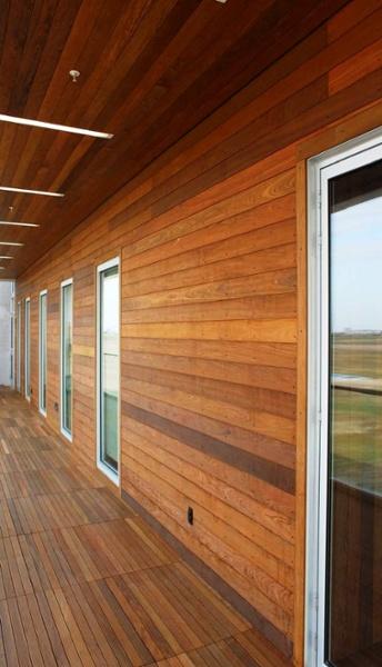 Ipe rain screen, soffit and decking