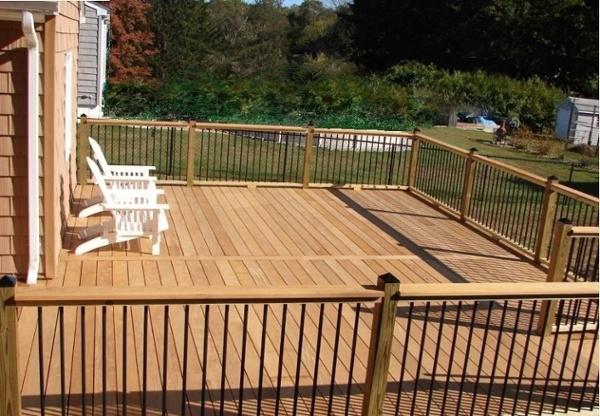 Garapa hardwood deck in Connecticut