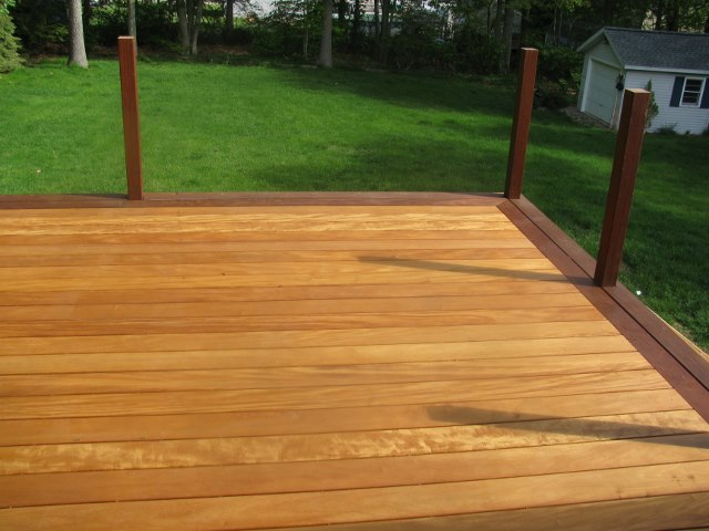 beautiful Garapa deck in Connecticut