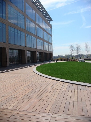 Ipe deck at office complex
