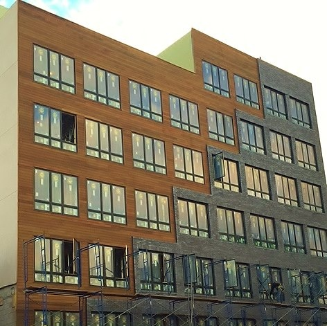 Ipe rain screen facade Brooklyn, NY