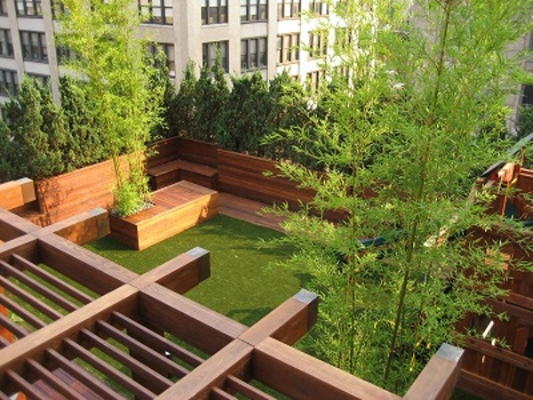 Ipe Rooftop Deck and Pergola in Brooklyn NY