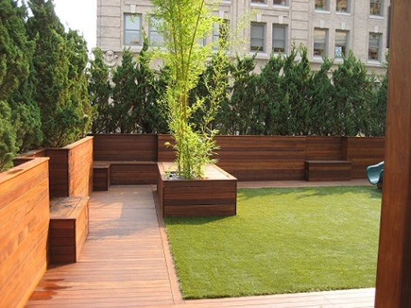 Ipe Rooftop Deck and Planters in New York City