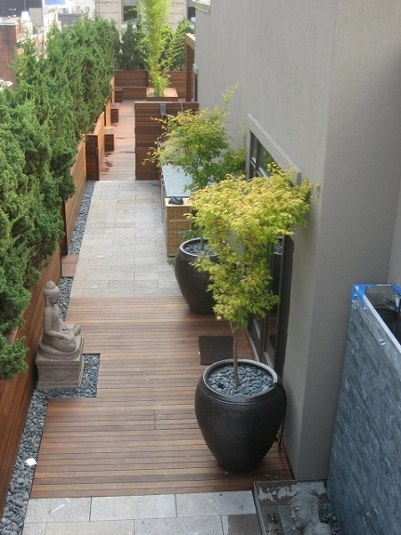 Ipe Rooftop Deck and walkway in NYC