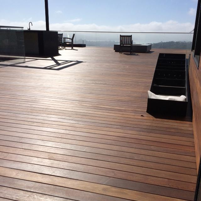 Ipe rooftop deck in Mill Valley California