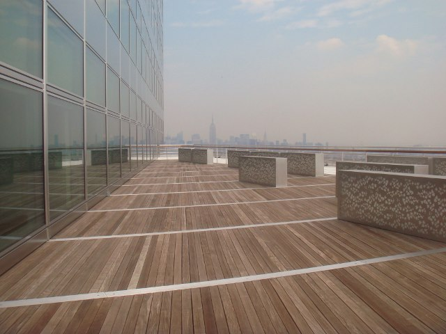 Ipe deck 42 stories over NYC