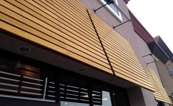 Lamboo exterior awning