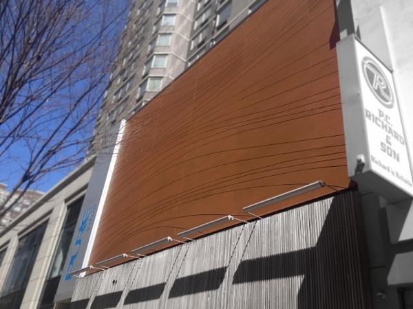 Lamboo rain screen facade
