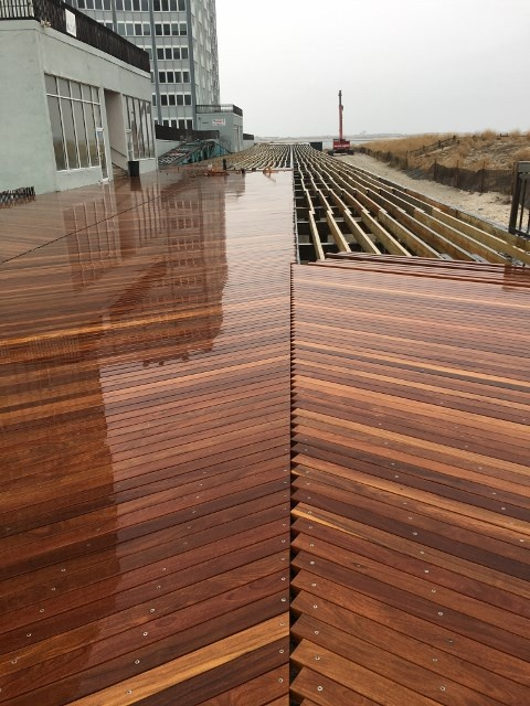 Mataverde Cumaru decking on Atlantic City boardwalk