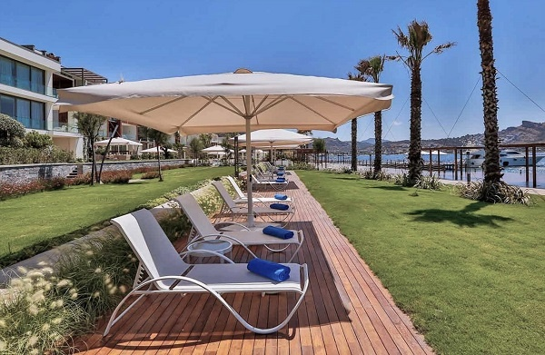 Mataverde thermowood decking at resort