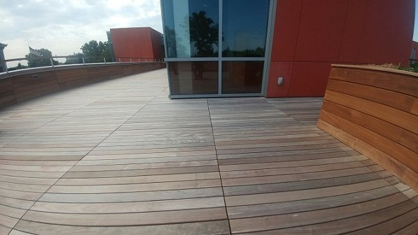 Mataverde Ipe rain screen siding and decking at Adelphi University
