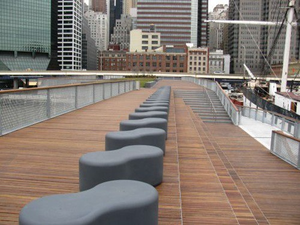 Pier 15 cumaru decking, ramps, benches, railings and stairs