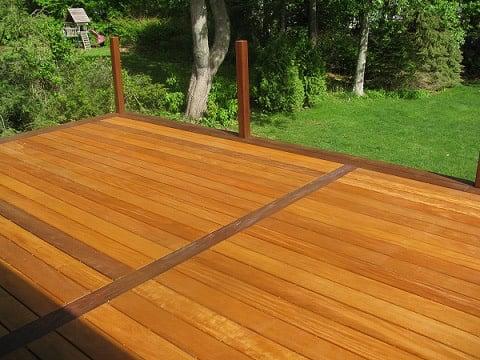Ipe And Garapa Wood Decking Create A Striking Design