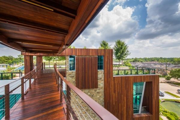 Mataverde Machiche decking and siding treehouse texas