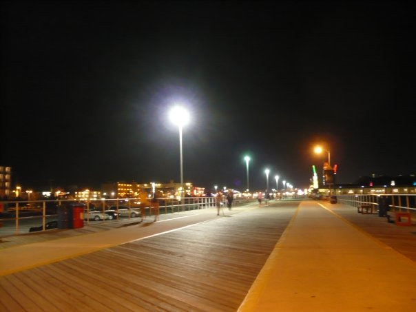 Wildwood Boardwalk at night